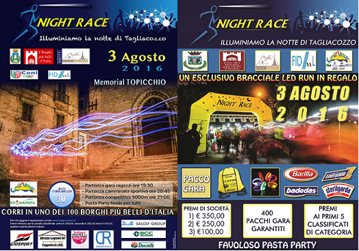 Due locandine Night Race